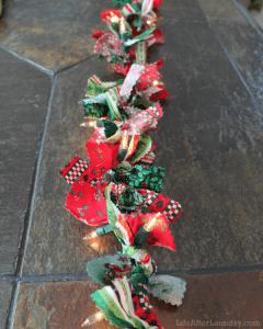 Grinalda com luzinhas de Natal
